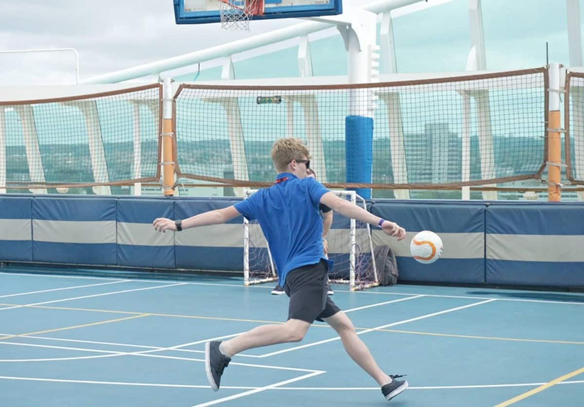 The Sports Court on the Liberty of the Seas cruisingkids.co.uk
