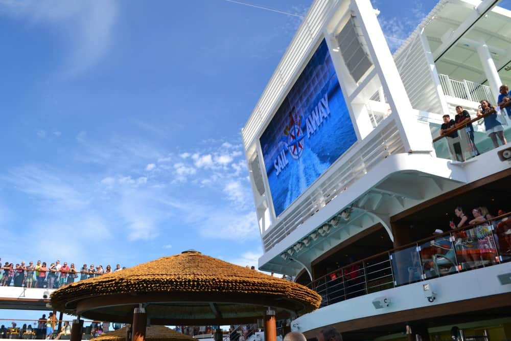 Sail Away party onboard Carnival Vista - a family-friendly cruise ship