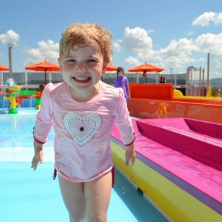 What makes Carnival Vista family-friendly - Tin Box Tot in Waterworks on Carnival Vista
