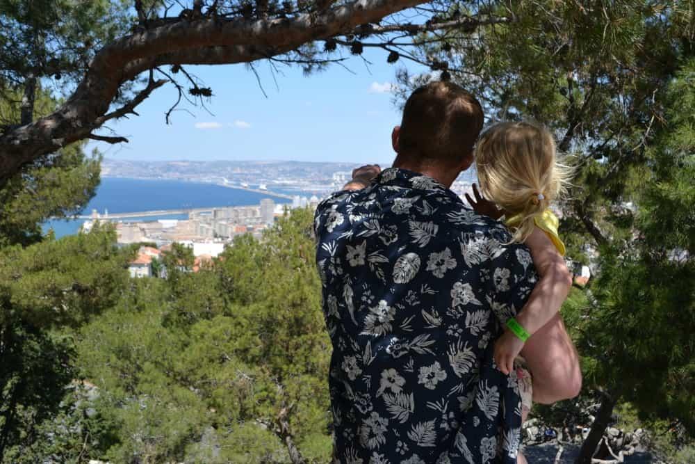 View from Notre Dame de la Garde Basilica Marseille - excursion with kids