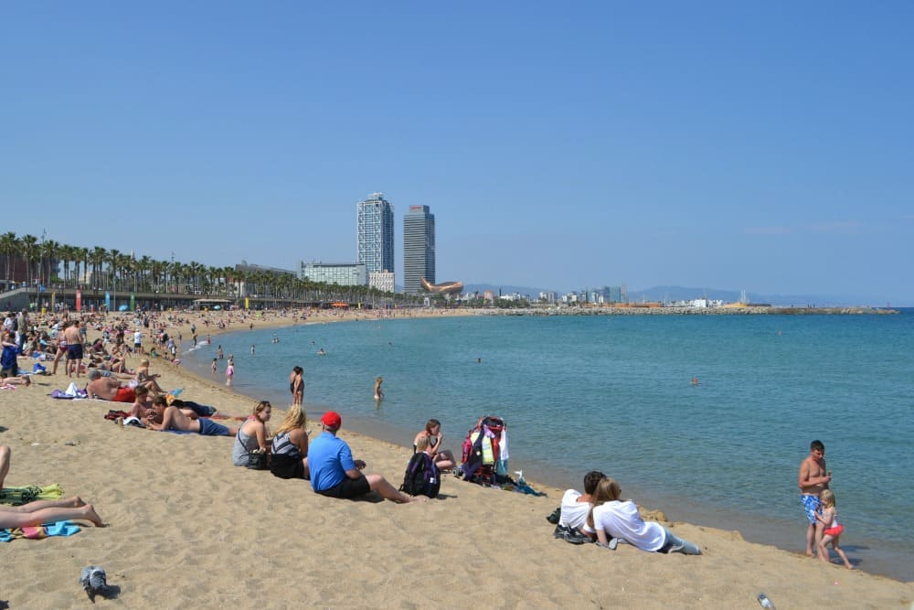 Barcelona beach - things to do in Barcelona with kids