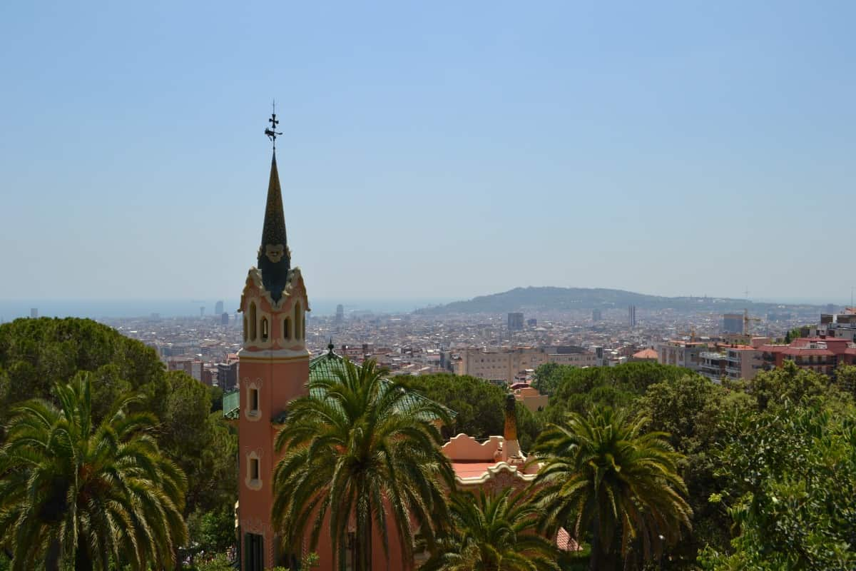 View of Barcelona from Park Guell - things to do with kids in Barcelona
