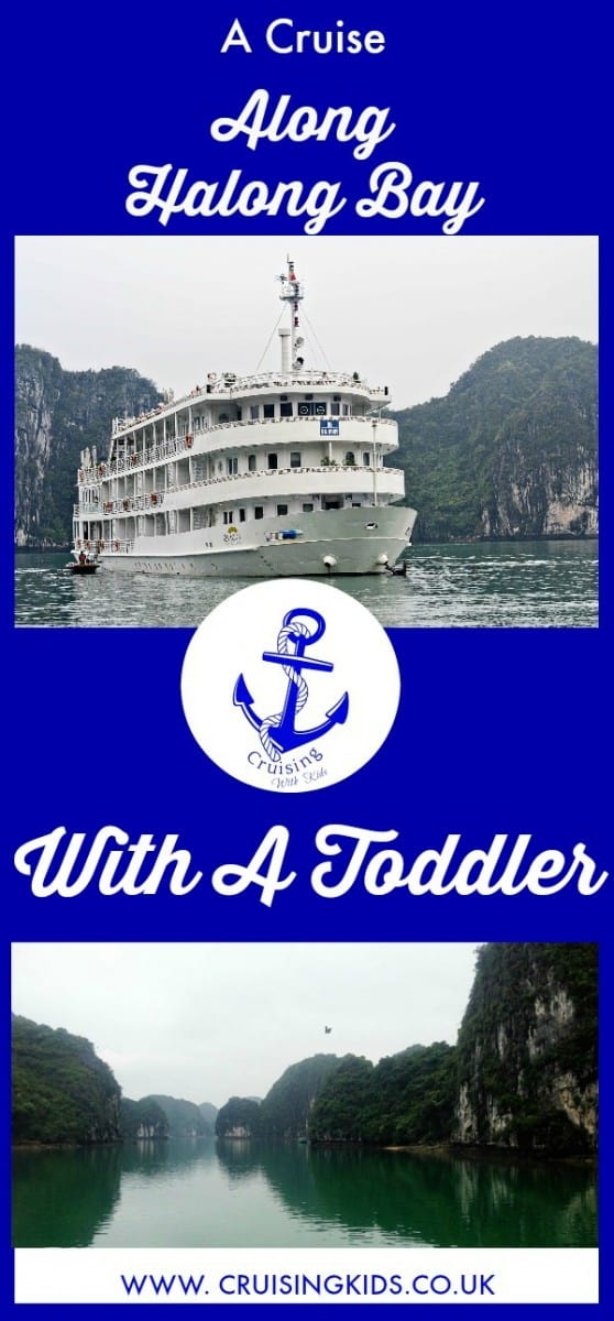 A cruise along Halong Bay with a Toddler