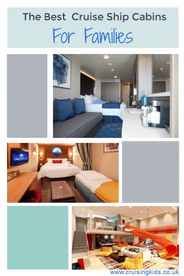 The Best Cruise Ships Cabins For Families and how to choose the right family cabin for your cruise