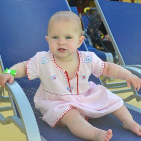 Baby on a sun lounger - cruising with a baby, what you need to know