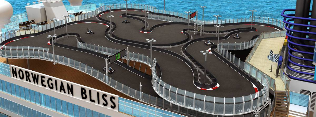 Norwegian Bliss racetrack at sea