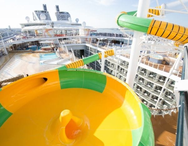 The Perfect Storm slides on Harmony of the Seas as it will look on Symphony of the Seas