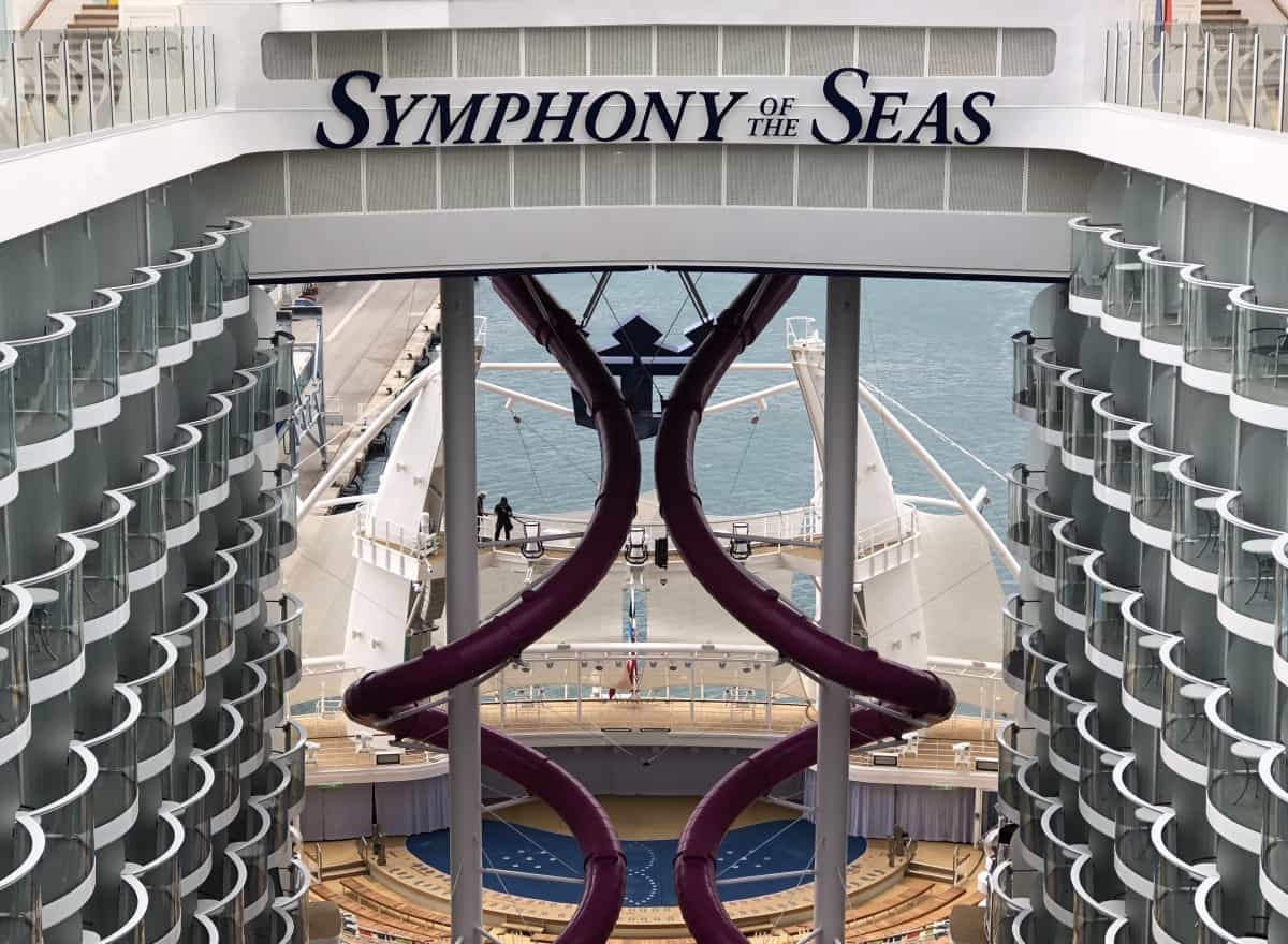 Symphony of The Seas teens guide , Huge abyss slide
