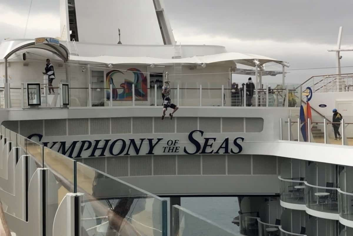 Symphony of The Seas Zip Line