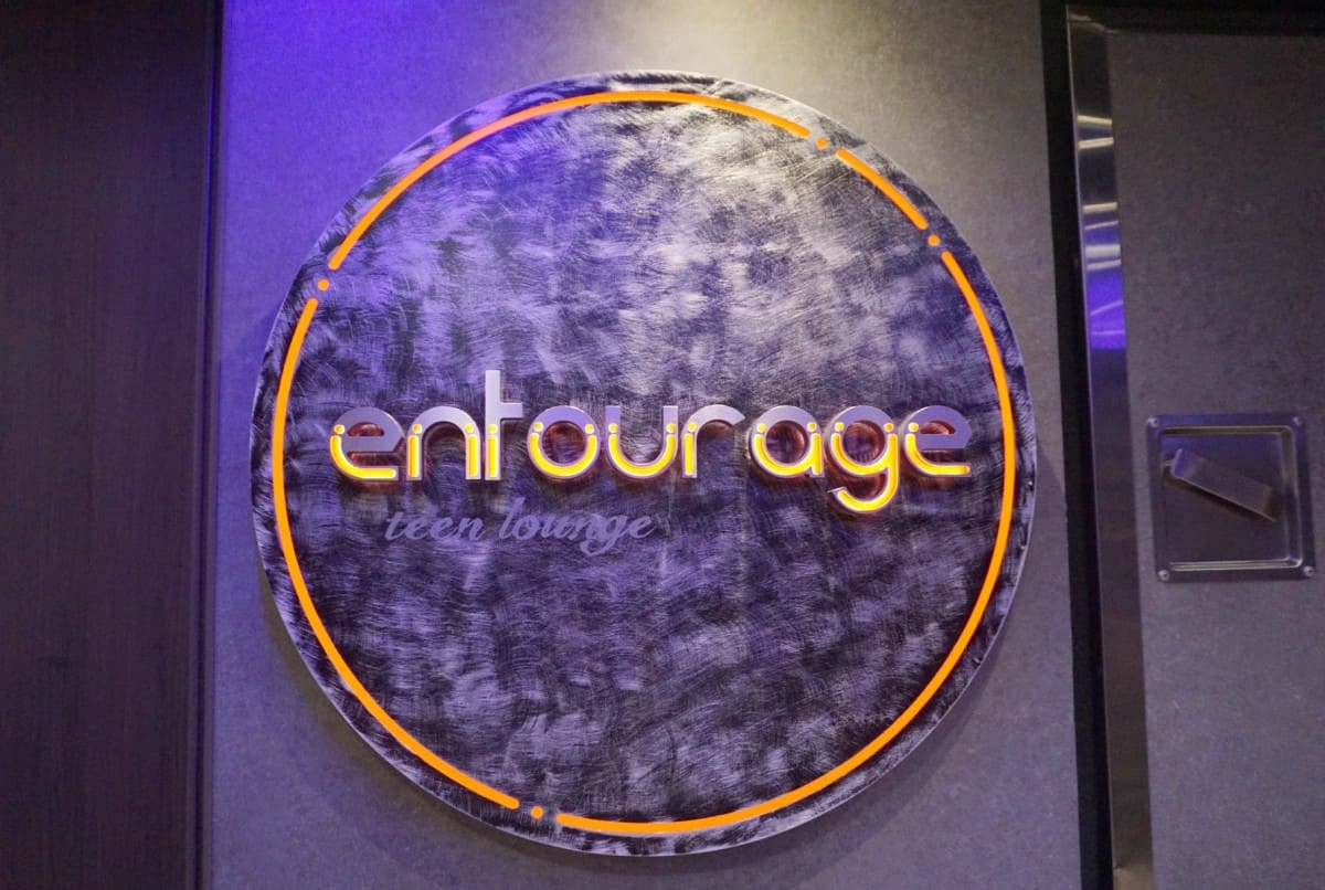 Entourage Teen Lounge on the Norwegian Bliss www.cruisingkids.co.uk