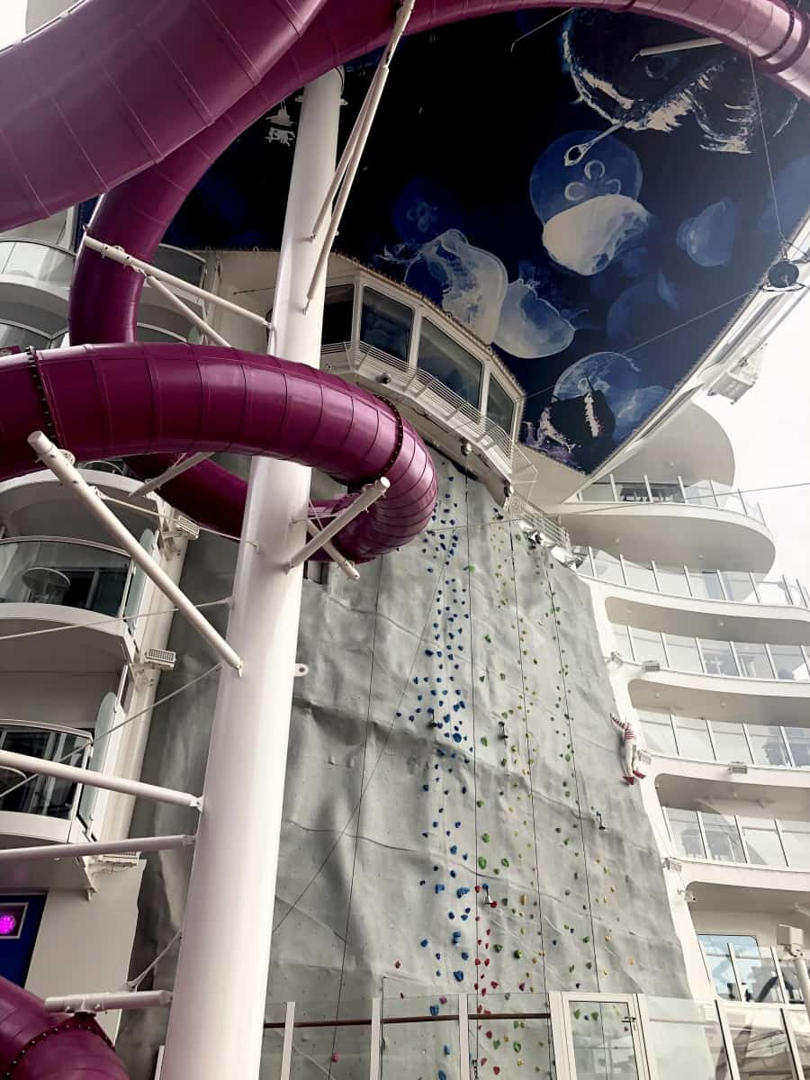 Symphony of The Seas Rock climbing Wall