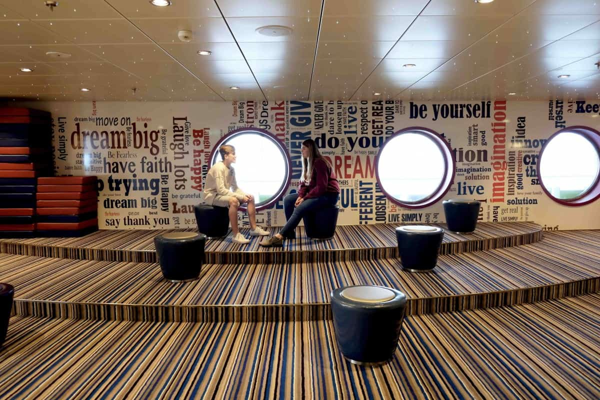 Symphony of The Seas teens guide , The Living room in fuel