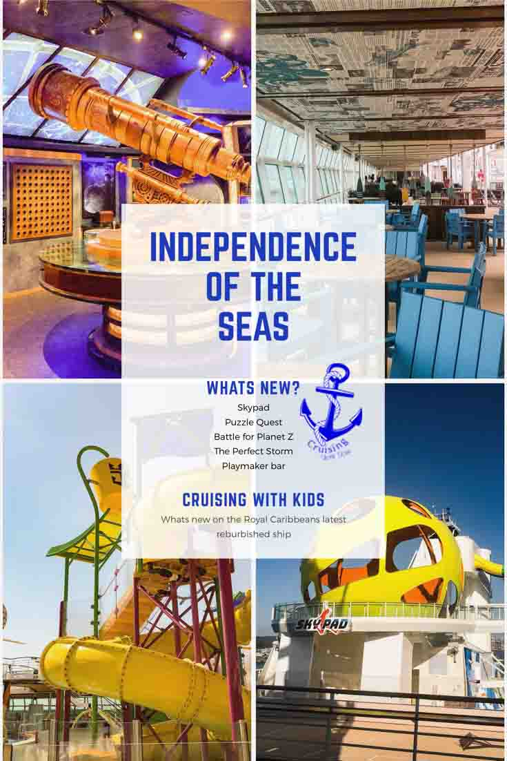 Whats new on the Independence of the Seas, Puzzle Quest, Skypad, New restaurants and more. Royal Caribbean refurb