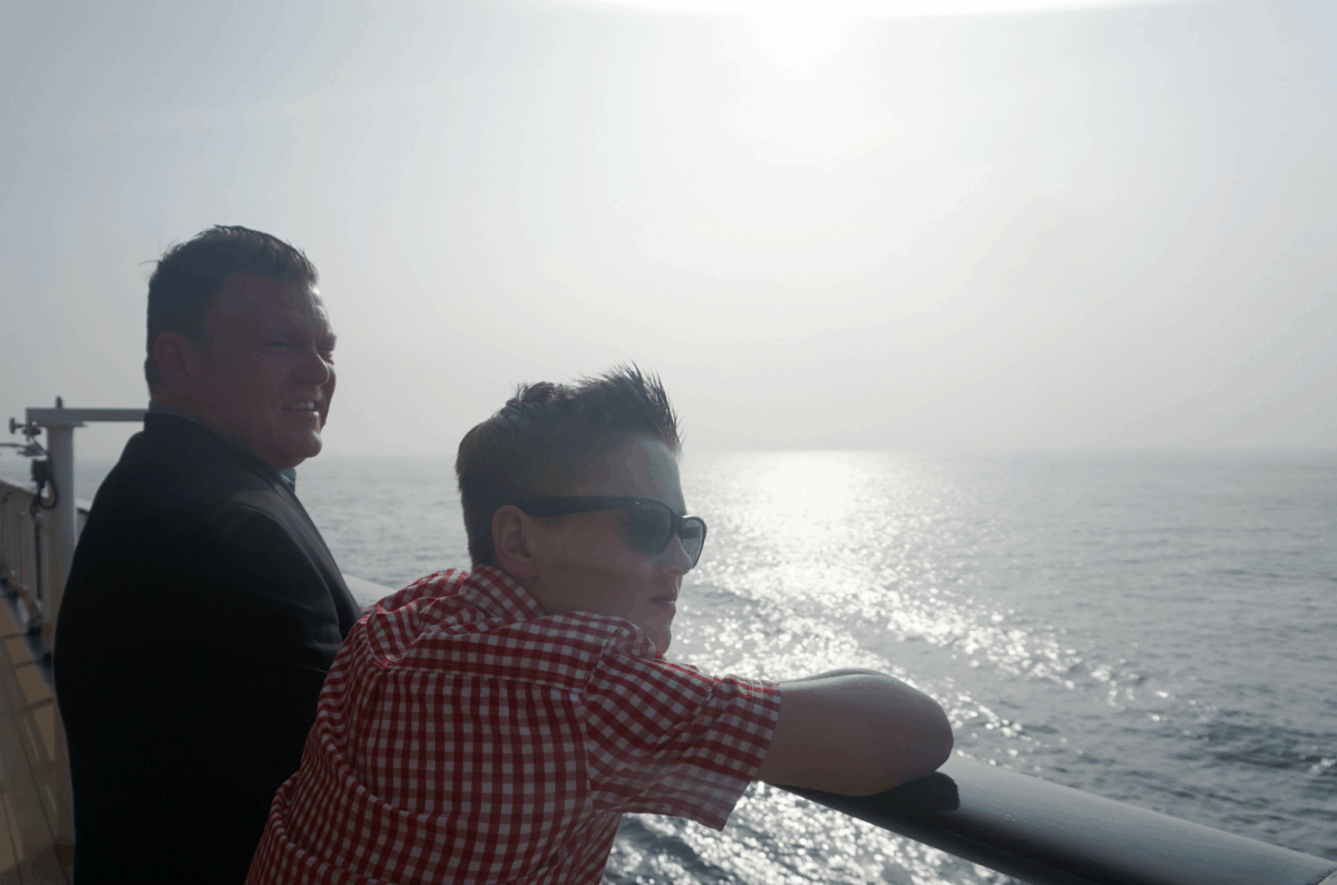 Looking Out To Sea Onboard The Celebrity Silhouette and tips for Cruise embarkation day, and what to expect