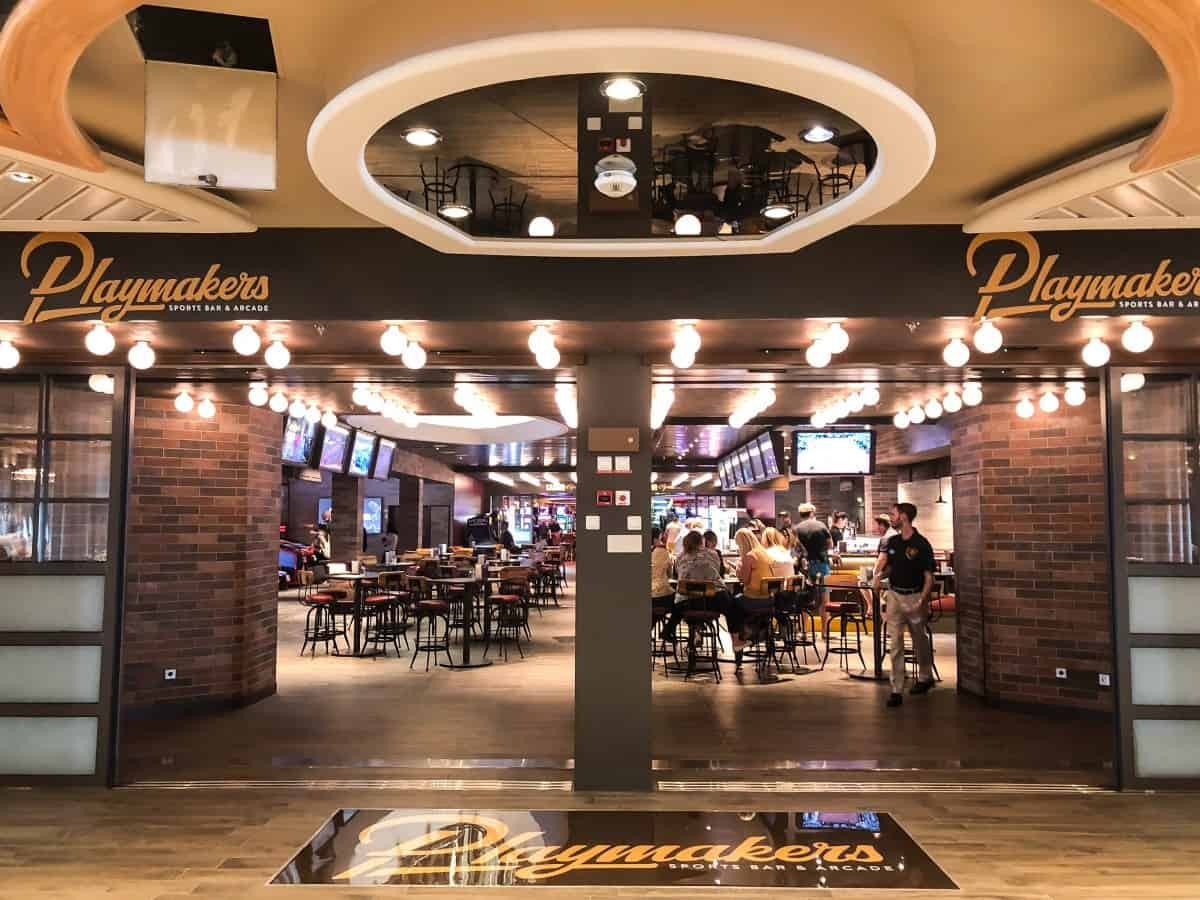 Playmakers Bar and arcade on Independence of the seas.