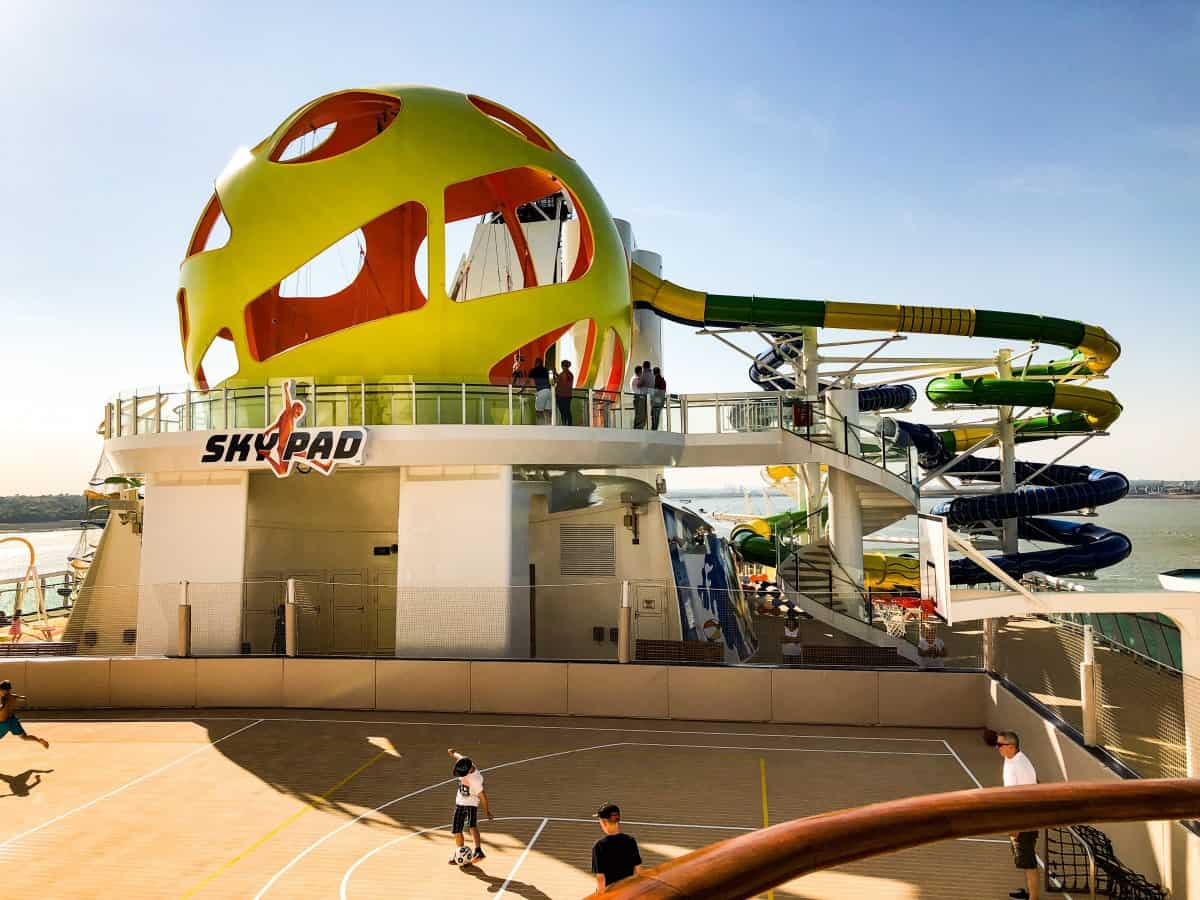 The Skypad Bungee on Independence of the seas.What's new on the Independence of the Seas?