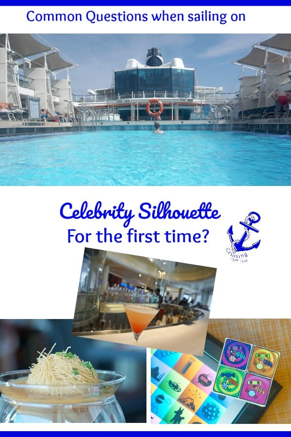 Common Questions when sailing on Celebrity Silhouette for the first time, including ironing tips, drinks packages and dining