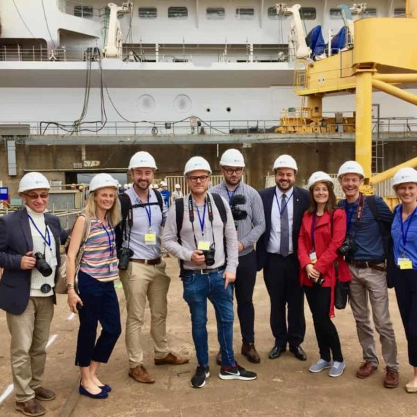 MSC Bellissima press trip to ship yard