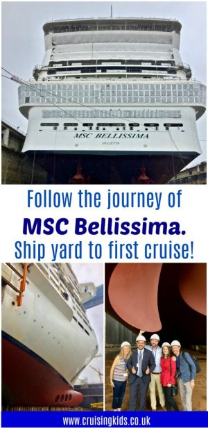 Follow the journey of MSC Bellissima from ship yard to first cruise!