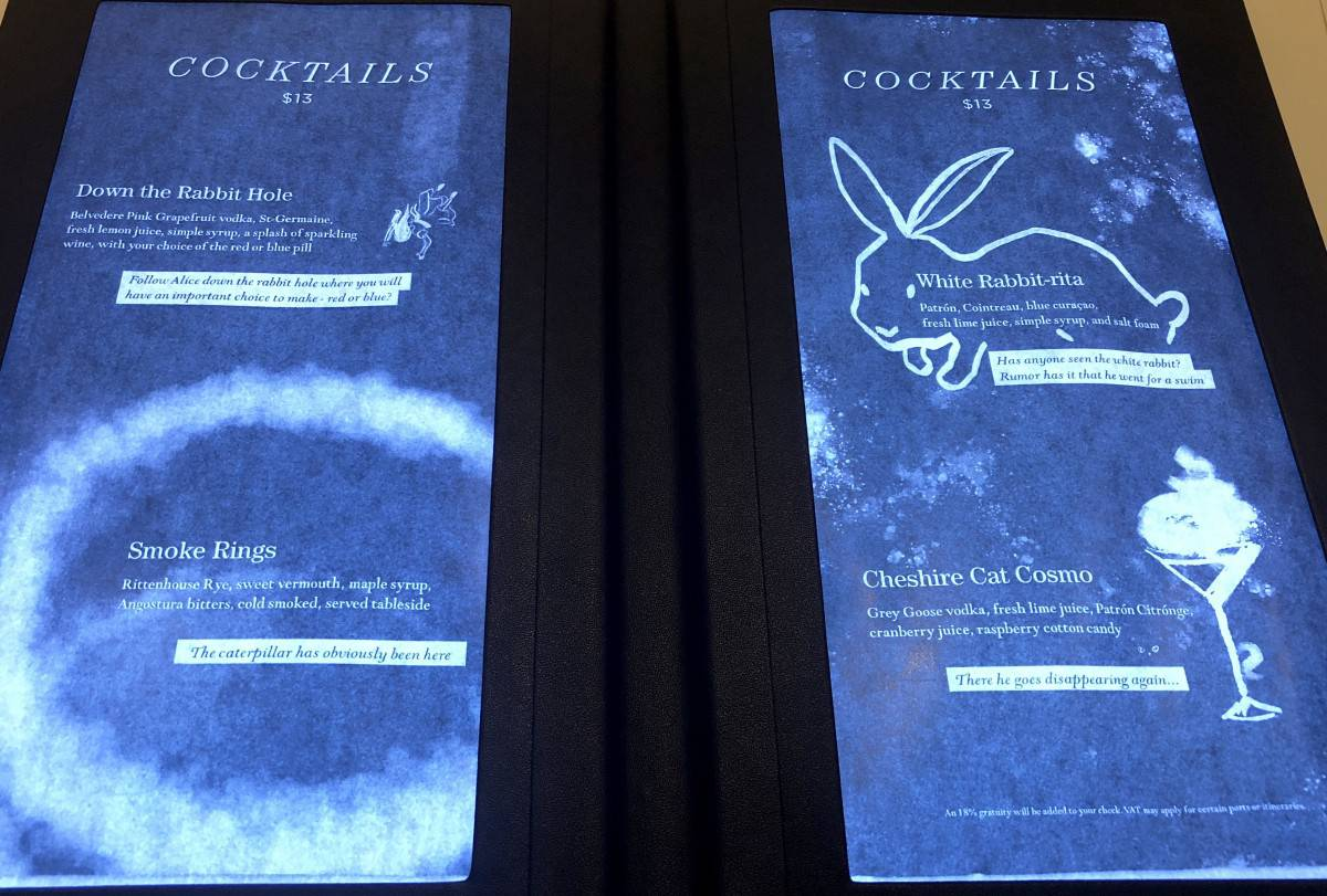 Royal Caribbean Wonderland Symphony of the Seas Cocktail menu