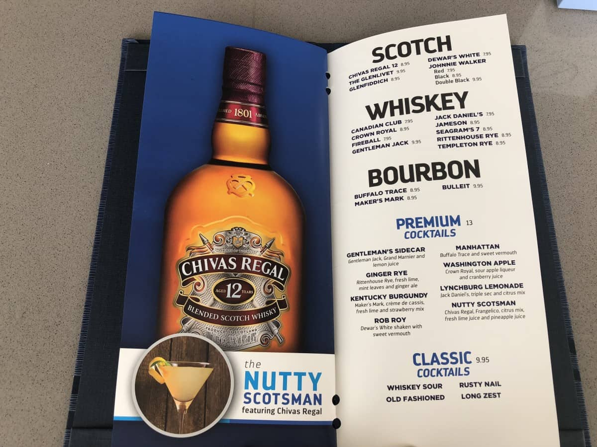 Royal Caribbean cruise ship drinks menu Whiskey cocktails 2018 Independence of the seas
