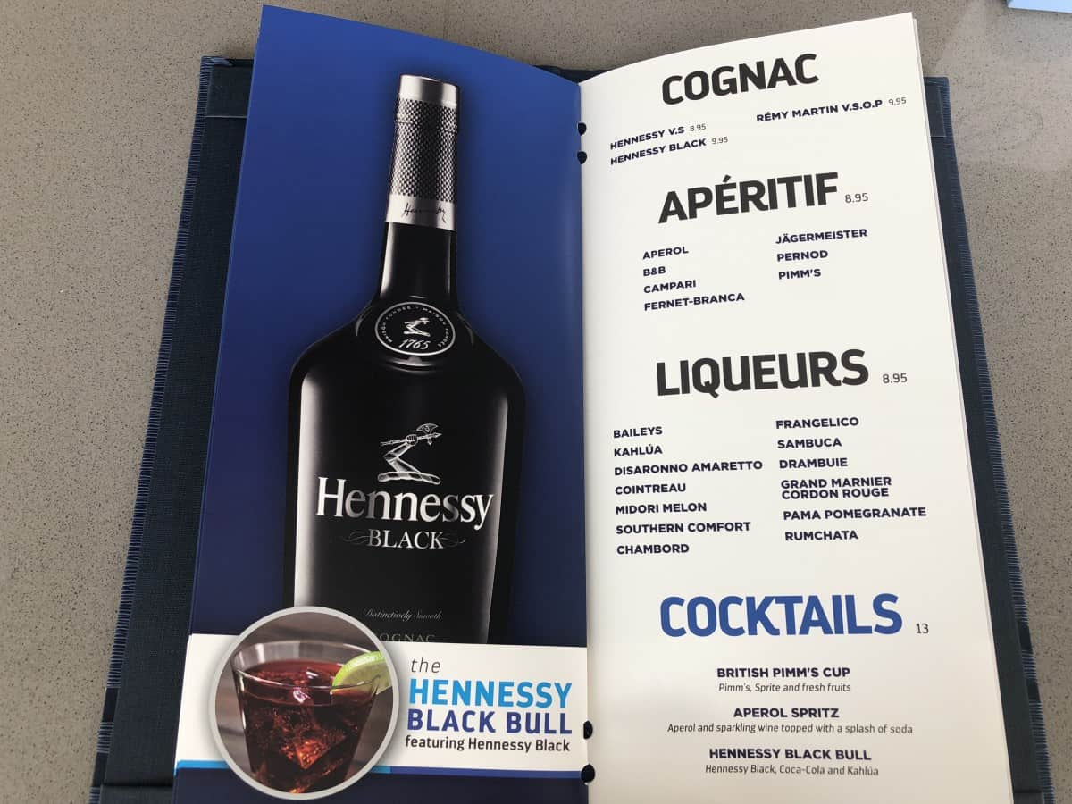 Royal Caribbean cruise ship drinks menu Gin cocktails