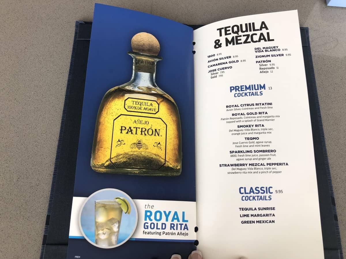 Royal Caribbean cruise ship drinks menu Rum cocktails 2018