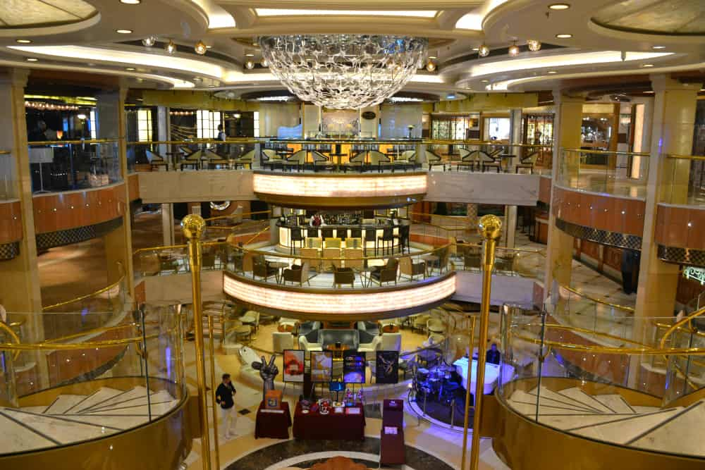 Atrium Royal Princess - cruise ship for families