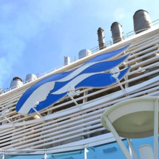 Royal Princess funnel - Royal Princess cruise ship for families
