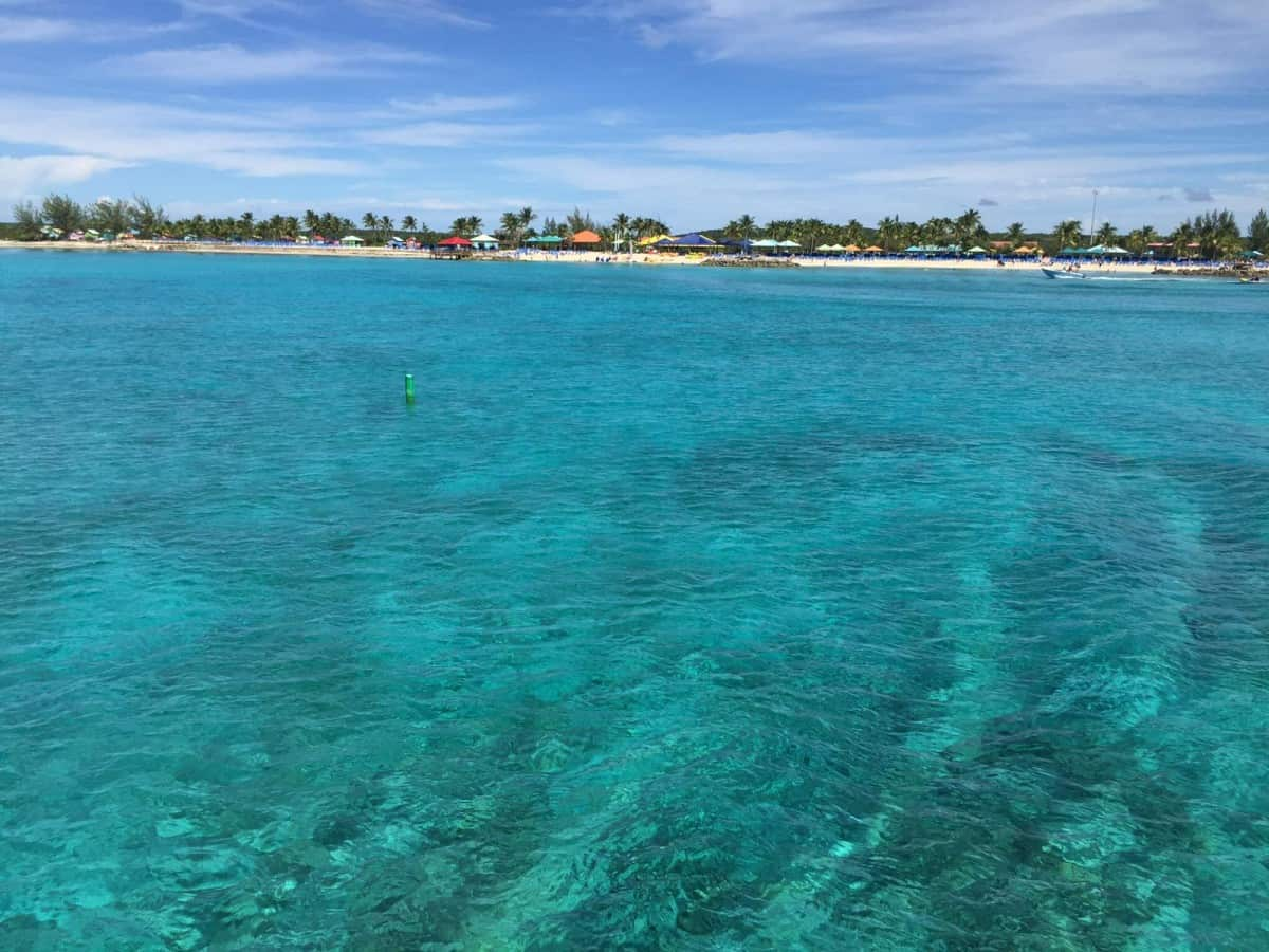 Clear Caribbean waters - book a family cruise in the Caribbean this winter