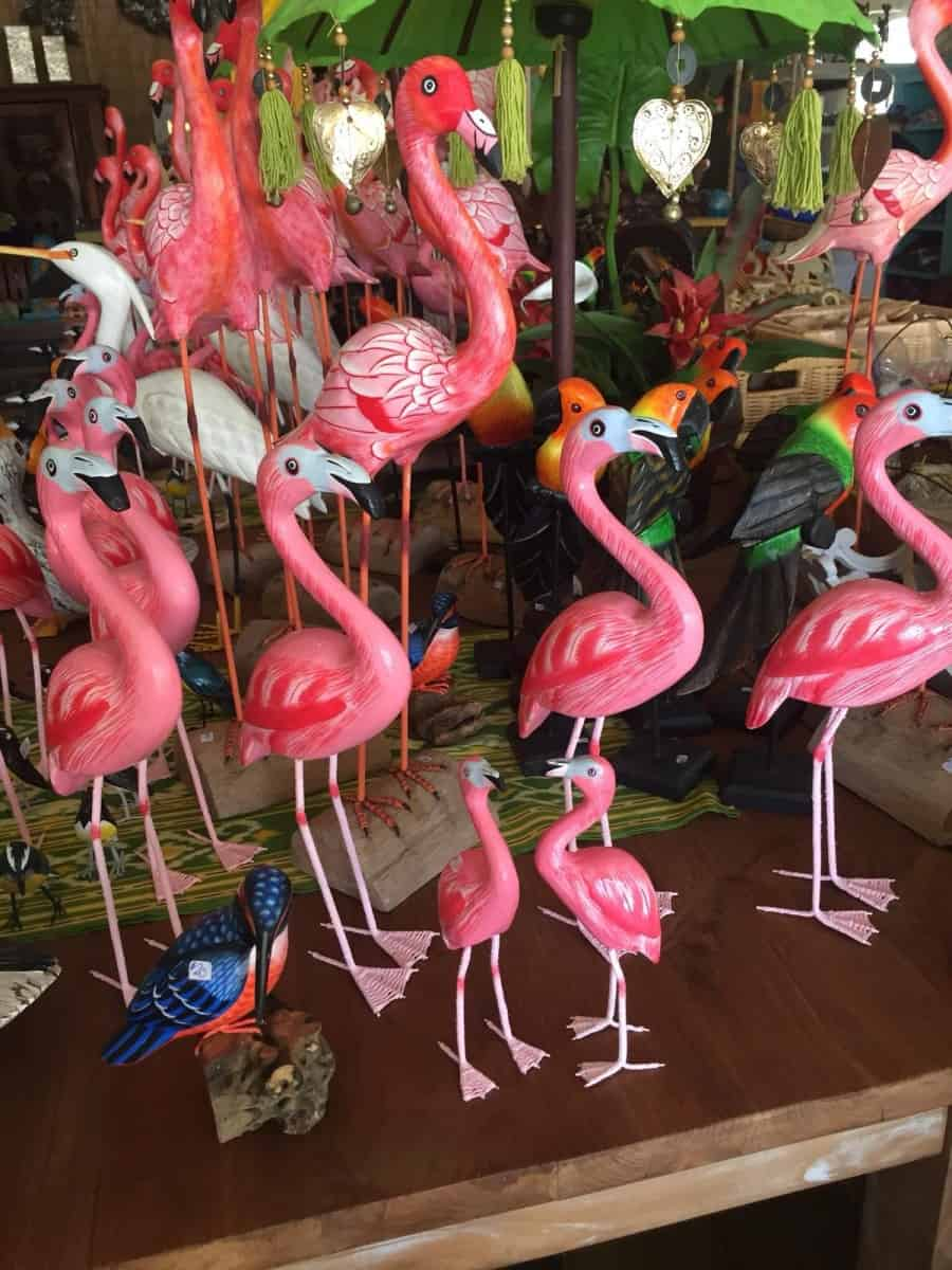 Flamingo ornaments - book a family cruise in the Caribbean this winter