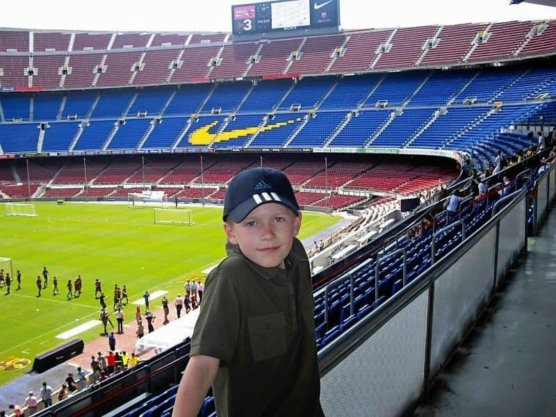Barcelona-Camp Nou with kids