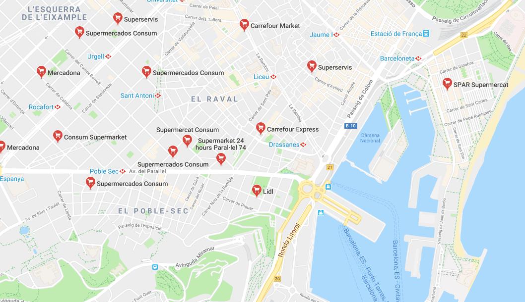 Supermarkets In Barcelona
