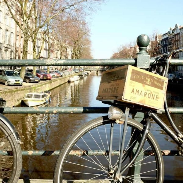 Bike on the Amsterdam Canal Europe