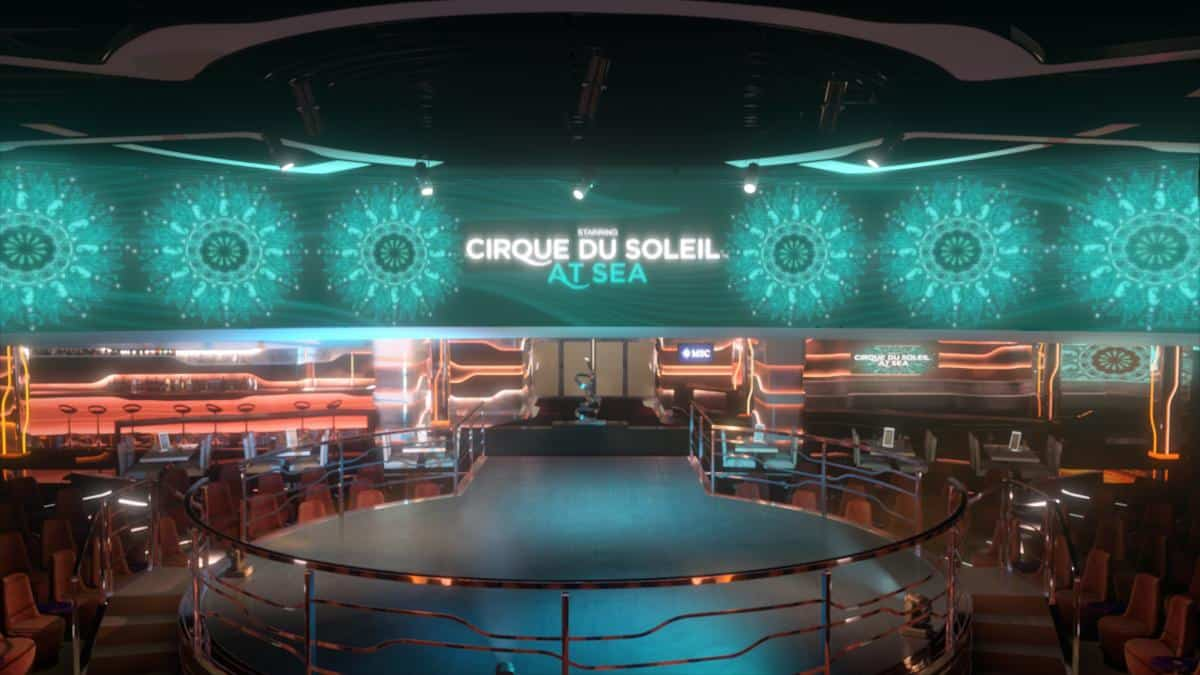 Cirque Du Soleil at Sea onboard MSC Cruises