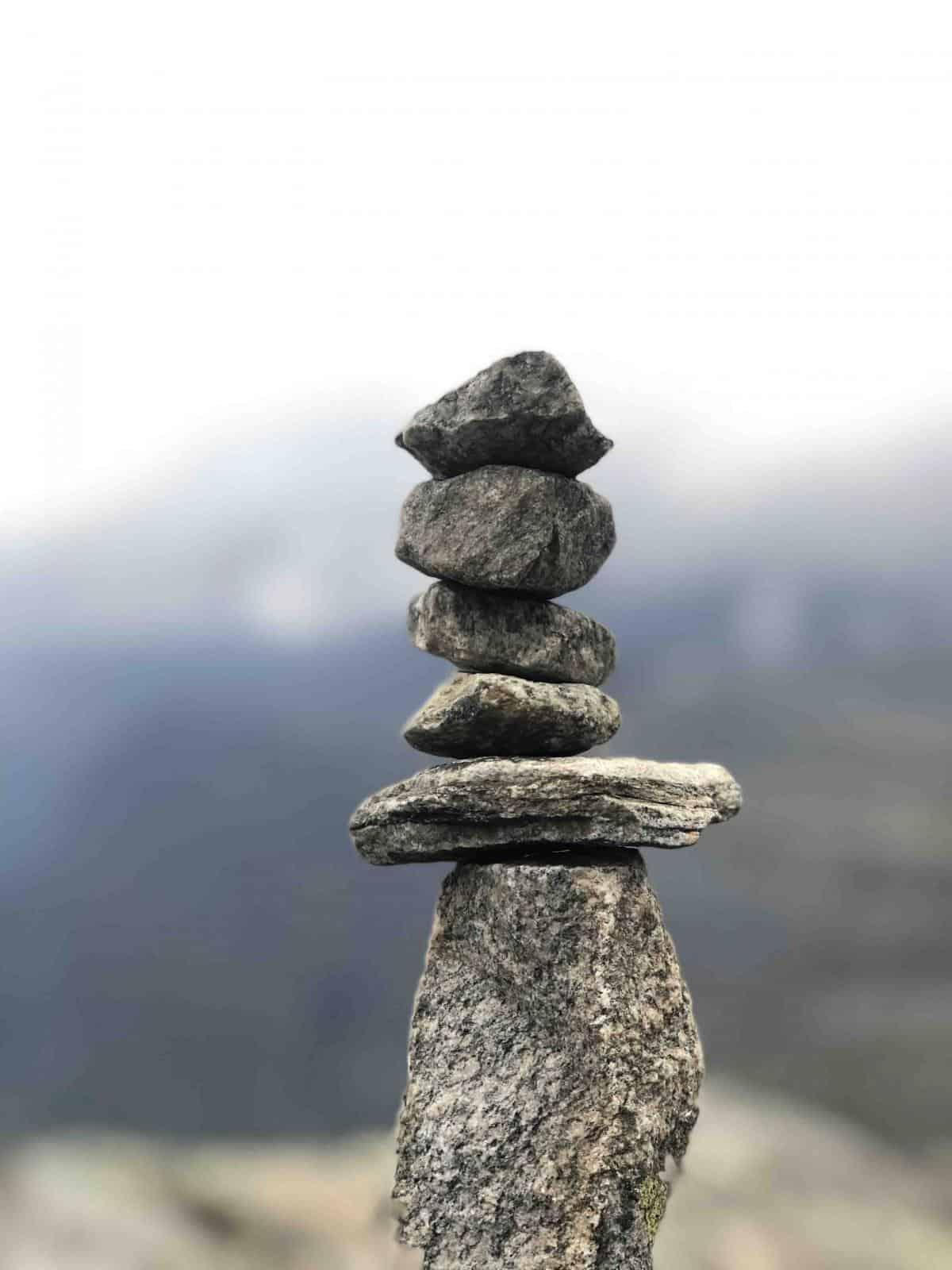Mount Dalsnibba build stones