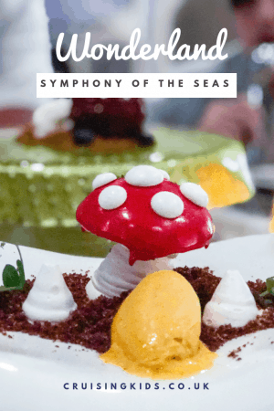 The Wonderland Royal Caribbean Specialty restaurant on Symphony of the seas is an amazing experience. One of the best restaurants on a cruise ship
