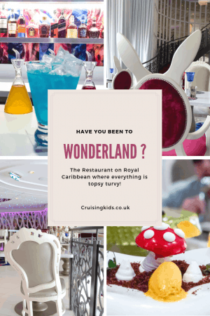 Wonderland Restaurant on symphony of the Seas is out of the world. A Culinary delight on board the biggest cruise Ship in the world. Find this on Harmony of the seas, Ovation of the Seas, Quantum of the seas and the Anthem of the Seas