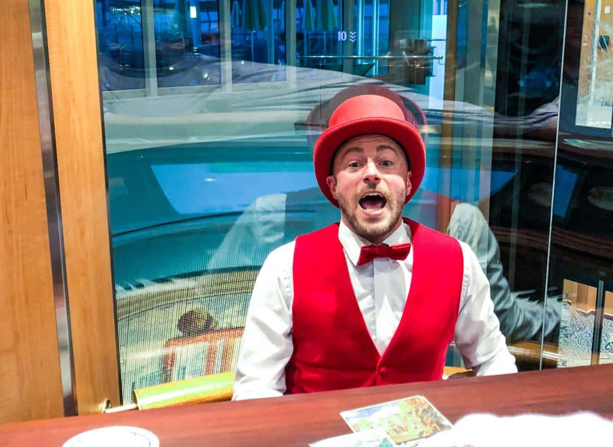 Piano Man in the lift on royal Caribbean. Have a good old jolly up and sing song all whilst riding in the lift!