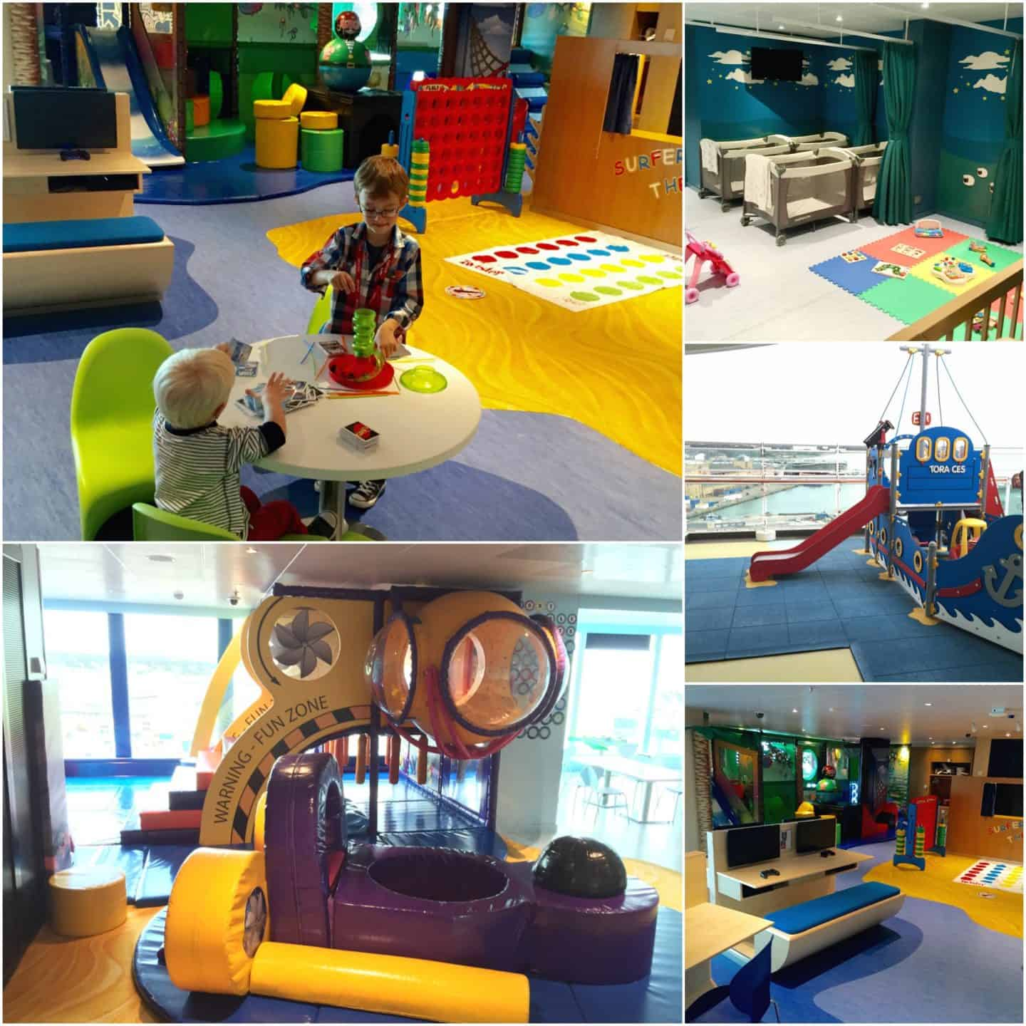 Some of the kids facilities onboard P&O Cruises Britannia