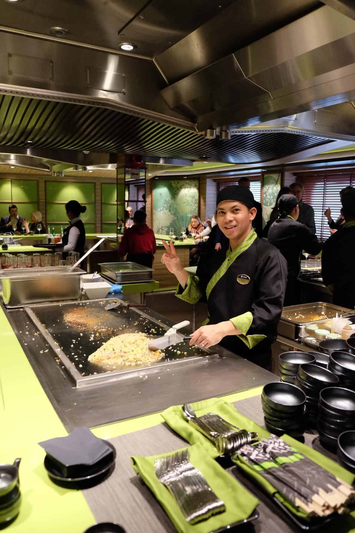 Kaito teppanyaki and sushi bar would be great fun for families! You can watch you dinner cooked right in front of your eyes. Or pop next door for some mouthwatering fresh sushi whilst people watching along the promenade.