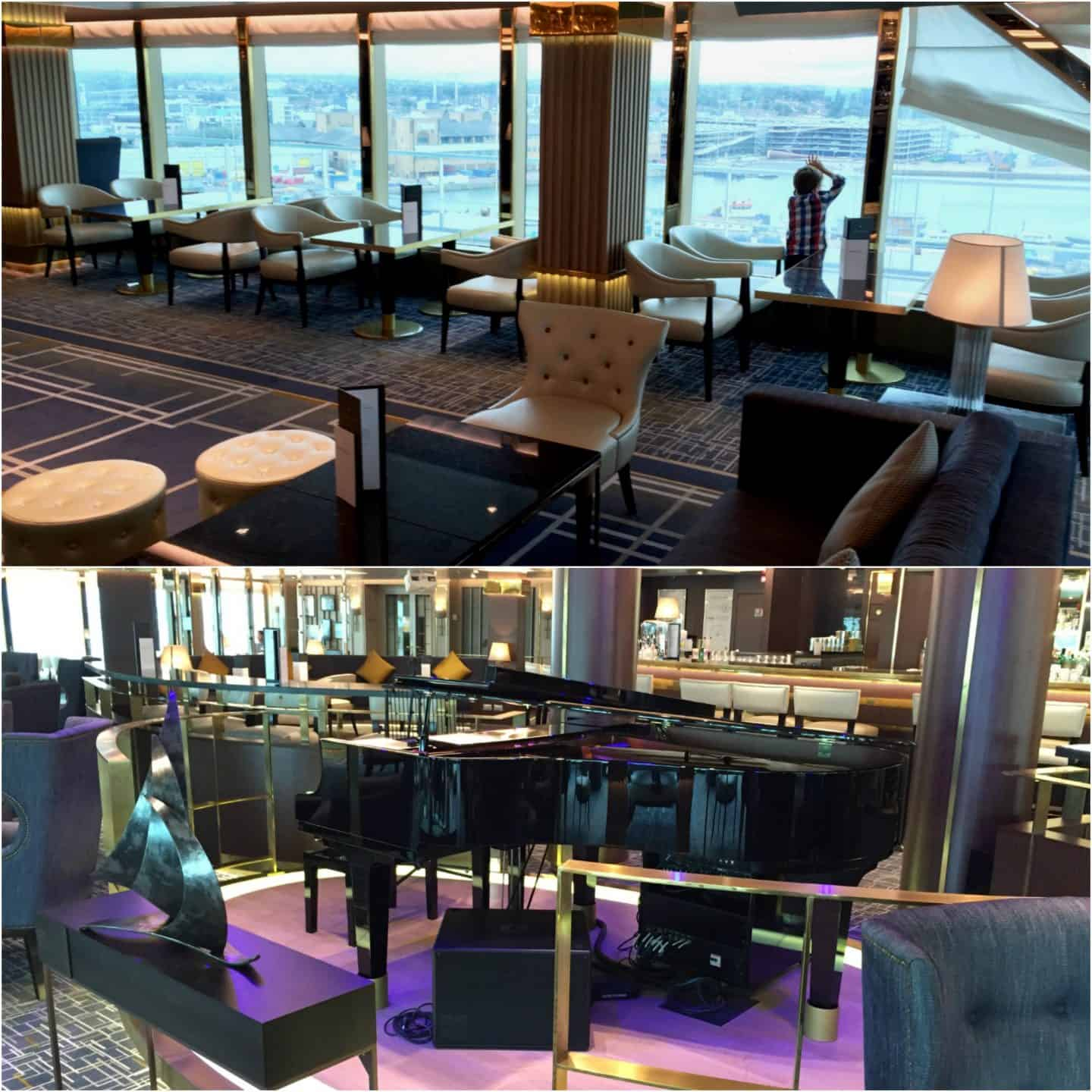 A couple of the many bars to relax and enjoy a cocktail onboard P&O Cruises Britannia