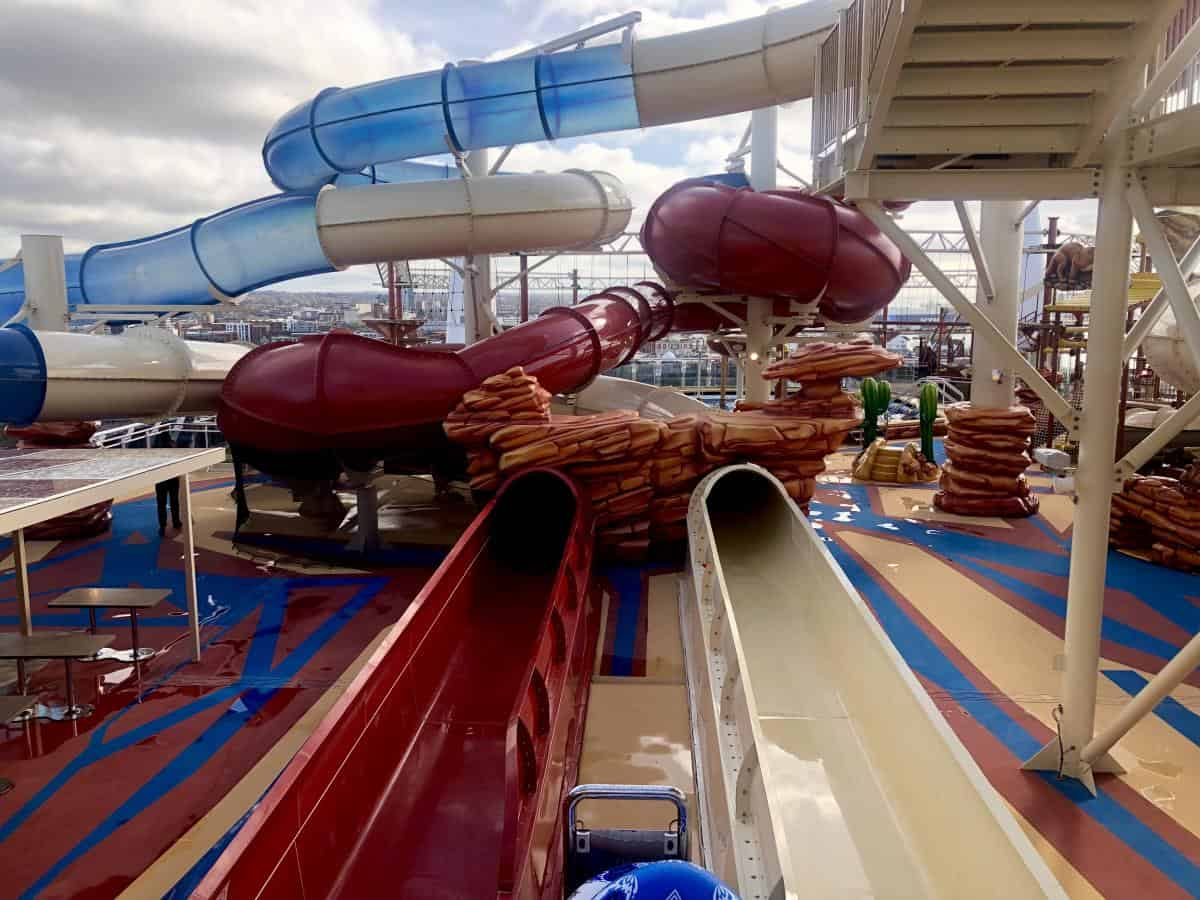 There are 3 water slides on the MSC Bellissima and one has a huge champagne bowl which you will be washed down! You can also race along with your friends on the other one to your hearts content.