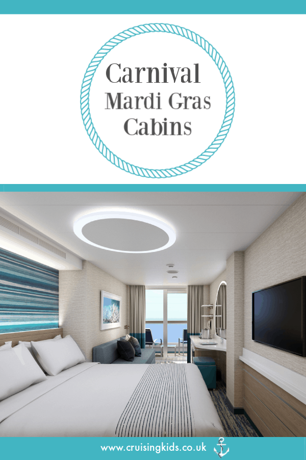 Carnival Mardi Gras Cabins are revealed with the latest designs and innovations
