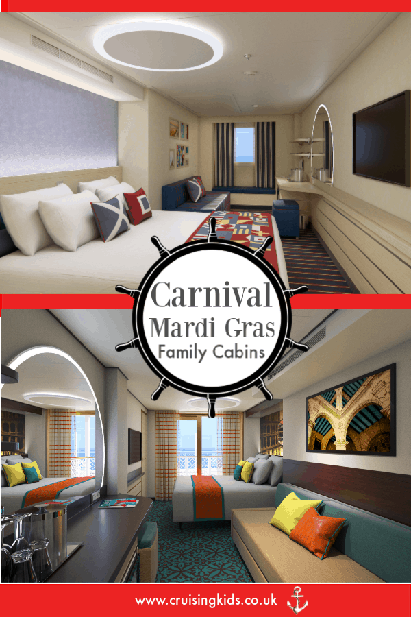 Check out Carnival Mardi Gras Family Cabins