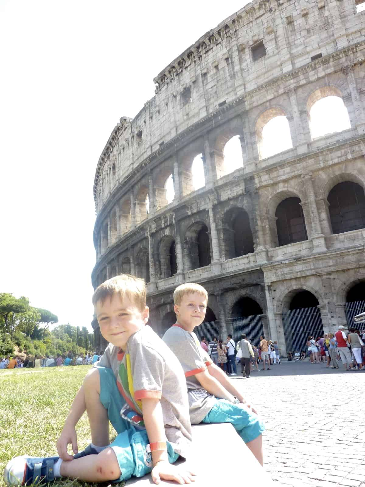 Children in Rome on a cruise shore excursion