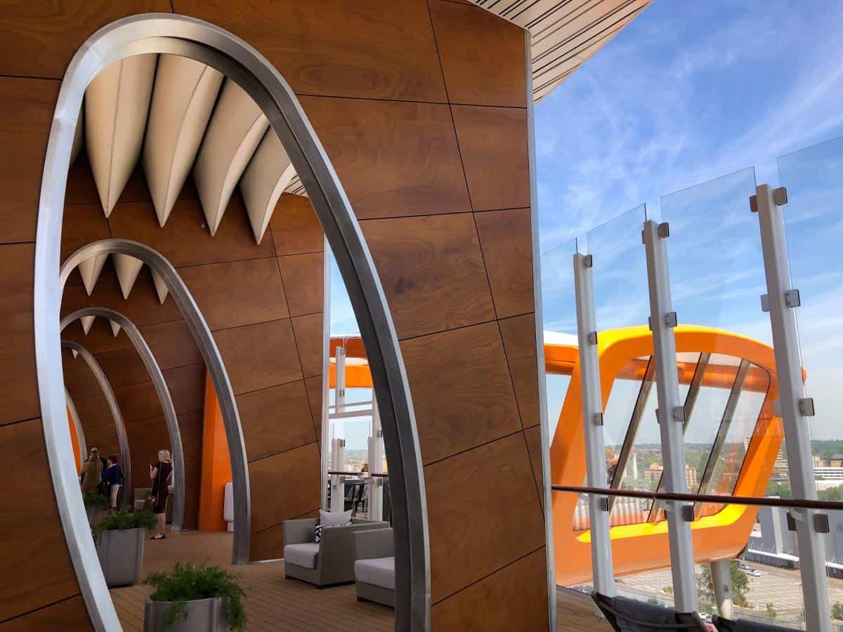 The Cabanas on the Celebrity edge are next to the Magic Carpet bar
