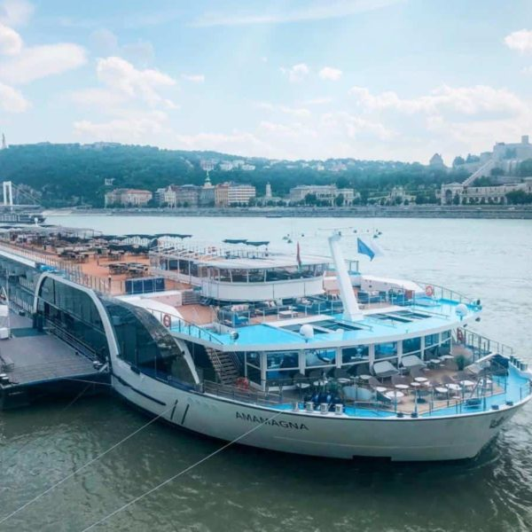 The AmaMagna docked in Budapest