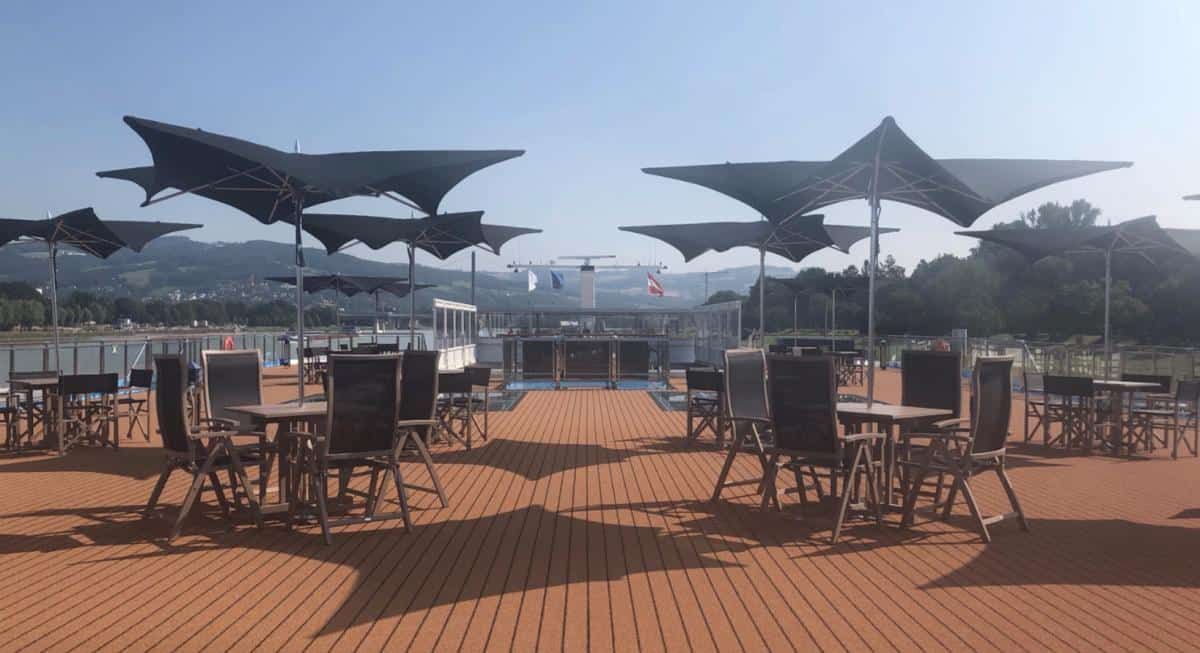 The deck sitting areas on the AmaMagna