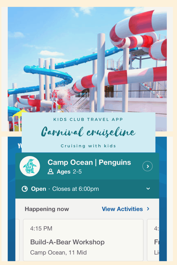 Carnival cruise lines kids cruise app